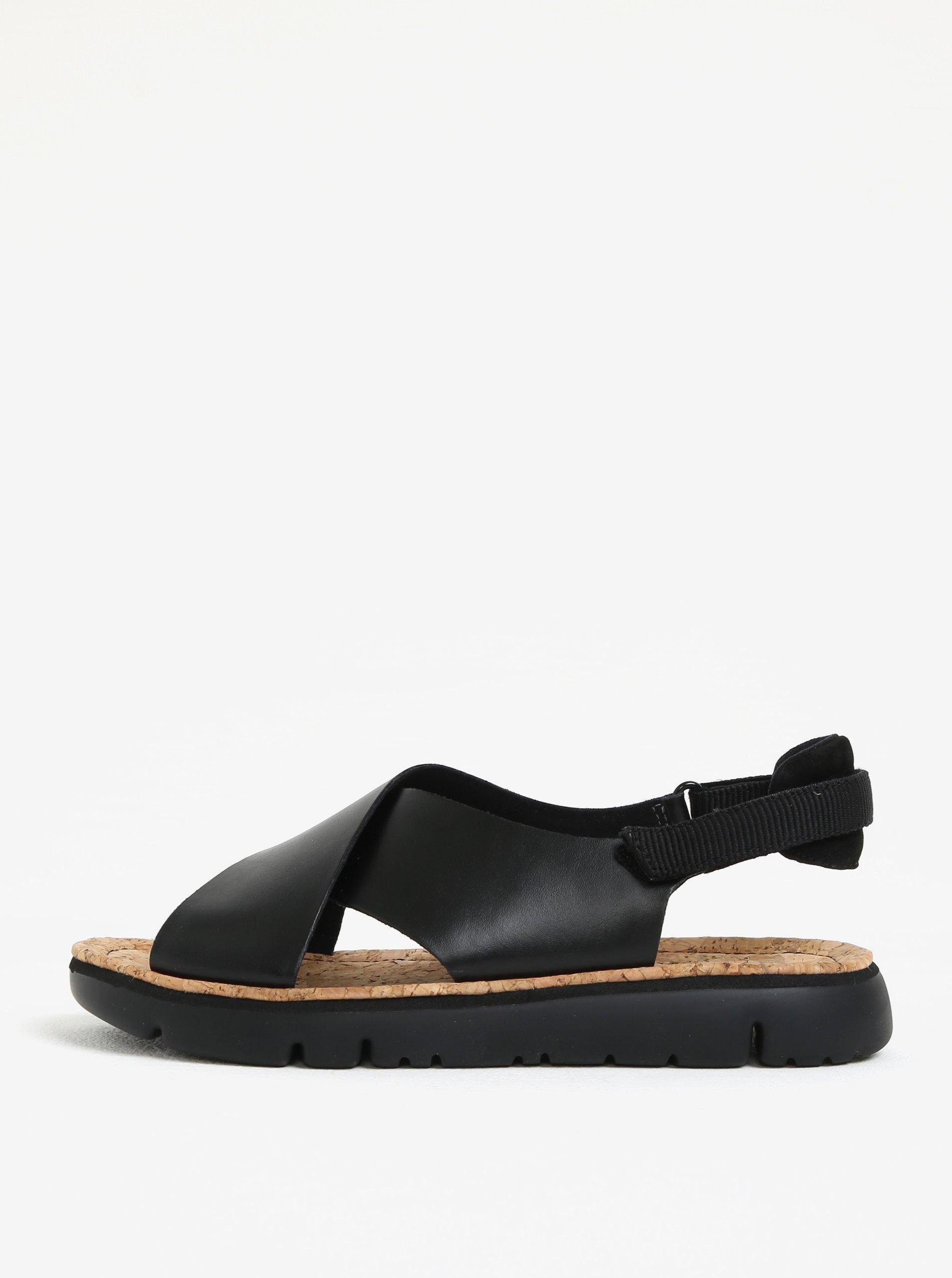 9f55d083b0468 Čierne dámske kožené sandálky Camper   Moda.sk