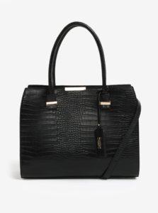Čierna kabelka s jemne plastickým vzorom LYDC