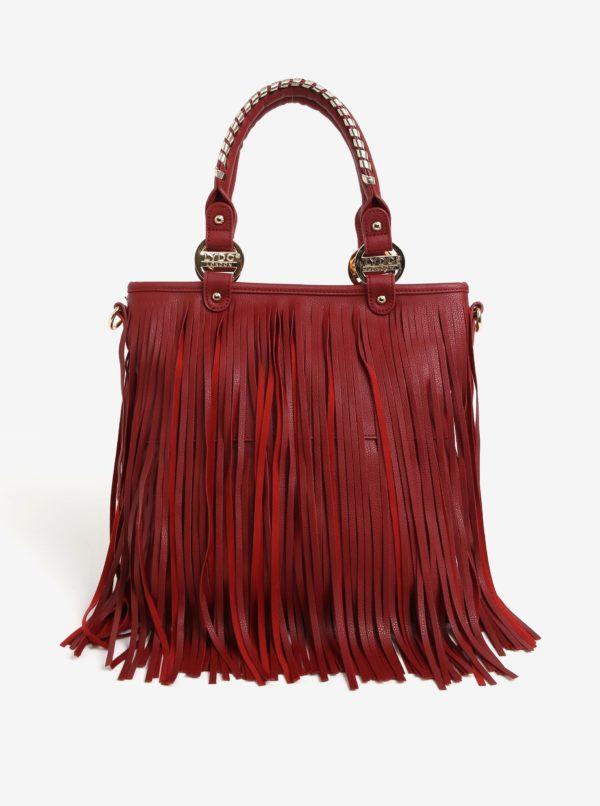 Červená kabelka so strapcami LYDC
