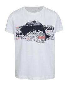 Biele chlapčenské tričko s potlačou name it Vux