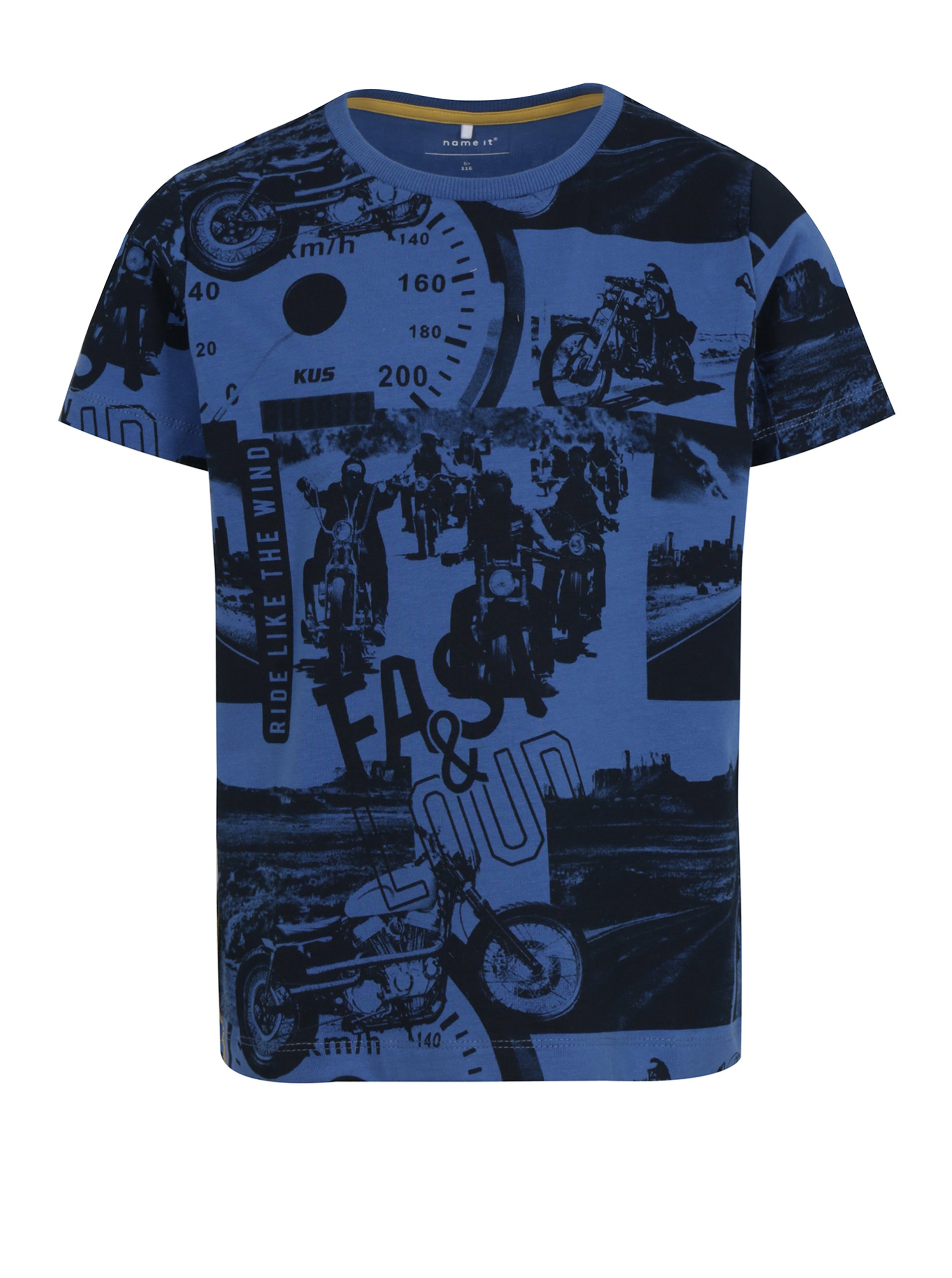 6f13d0fc6836 Modré chlapčenské tričko s potlačou name it Jalte