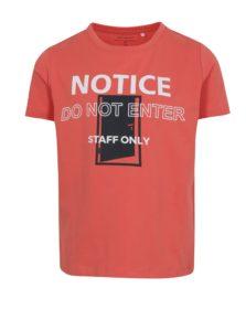 Oranžové chlapčenské tričko s potlačou name it Vux