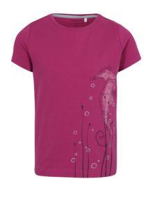 Ružové dievčenské tričko s potlačou name it Vix