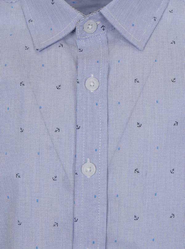 Modrá chlapčenská vzorovaná košeľa name it Mias