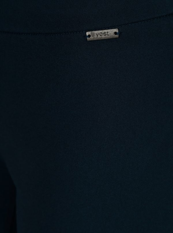 Tmavomodré elastické regular nohavice Yest