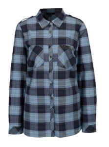 Modrá károvaná košeľa Yest