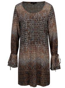 Krémovo-hnedá vzorovaná tunika Yest