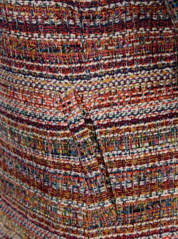 Hnedo-krémové vzorované sako Yest