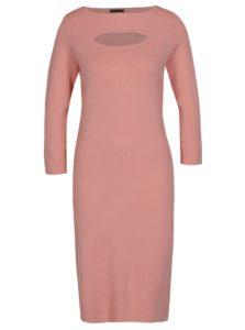 Ružové dámske šaty s 3/4 rukávom Pietro Filipi