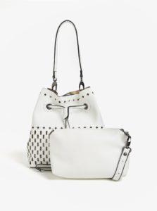 Biela vaková kabelka s malou kabelkou 2v1 Bessie London