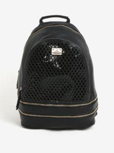 Čierny koženkový batoh Bessie London