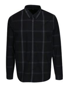 Čierna kockovaná košeľa Burton Menswear London