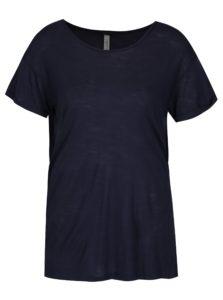 Tmavomodré tričko s čipkou na chrbte Blendshe Bianca