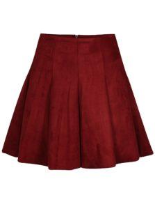 Červená skladaná sukňa TALLY WEiJL