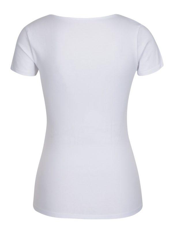 Biele tričko so šnurovaním v dekolte TALLY WEiJL