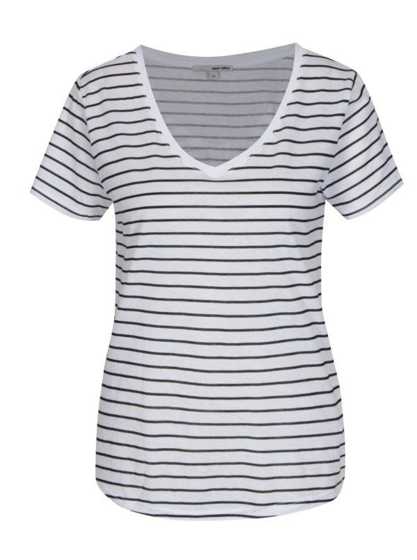 Biele pruhované tričko TALLY WEiJL