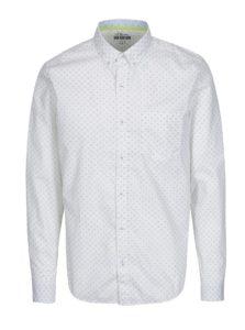 Biela vzorovaná pánska slim fit košeľa s.Oliver