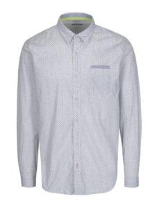 Biela pánska vzorovaná slim fit košeľa s náprsným vreckom s.Oliver