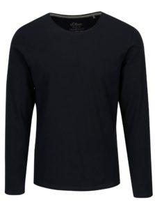 Tmavomodré pánske slim fit basic tričko s.Oliver