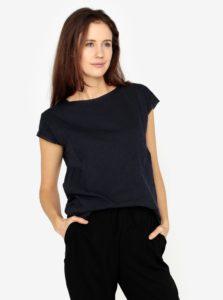 Tmavomodré dámske oversize tričko s.Oliver