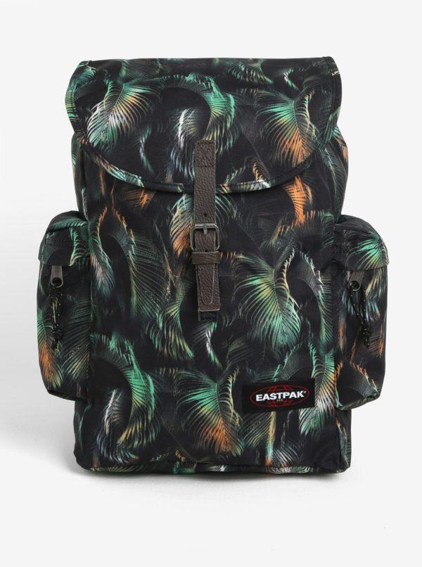 Zeleno-čierny vzorovaný batoh s chlopňou Eastpak Austin 18 l