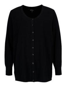Tmavomodrý sveter s gombíkmi Ulla Popken