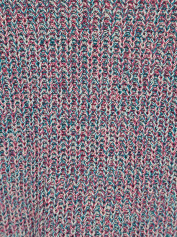 Modro-ružový rebrovaný sveter Ulla Popken