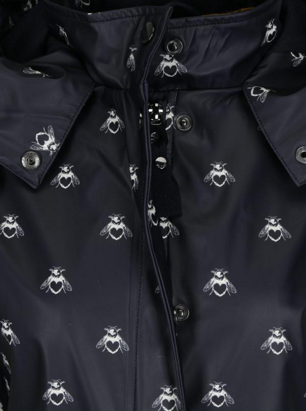 Čierna dámska pláštenka s potlačou Tom Joule Mistral