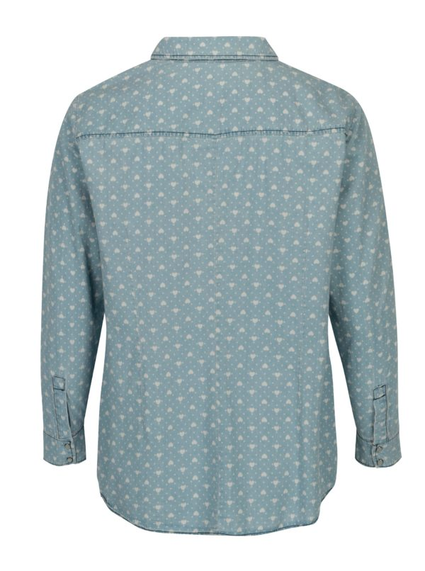 Svetlomodrá vzorovaná košeľa Ulla Popken