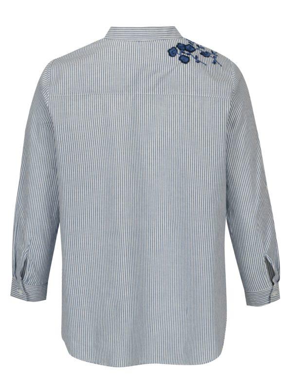 Bielo-modrá pruhovaná košeľa s výšivkou M&Co