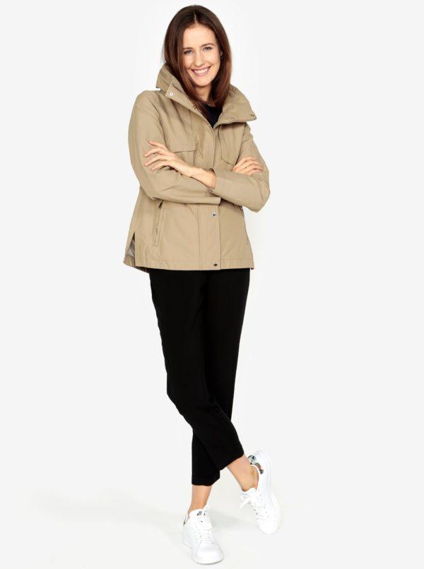 Béžová dámska bunda so skrytou kapucňou s.Oliver