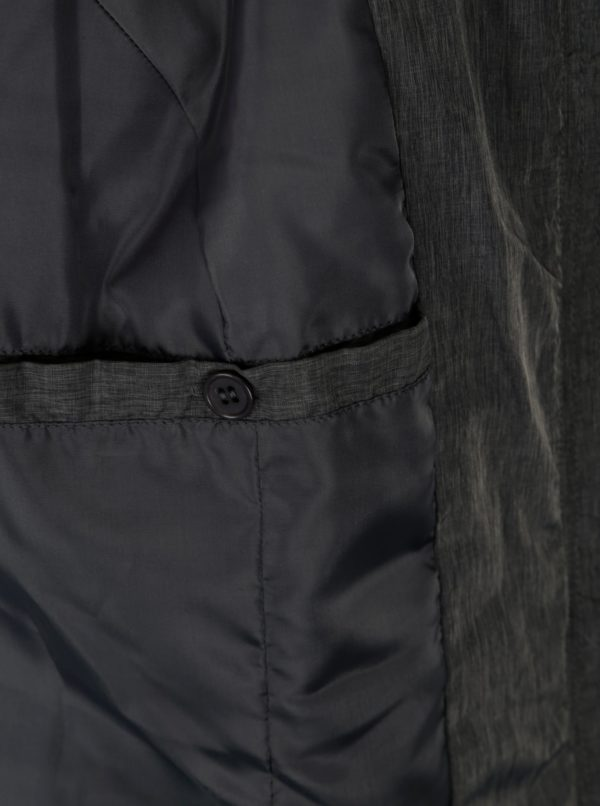 Tmavosivá prešívaná bunda s kapucňou Ulla Popken
