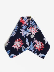 Tmavomodrá kvetovaná šatka Tom Joule Myriam