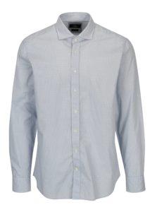 Bielo-modrá vzorovaná formálna slim fit košeľa Hackett London