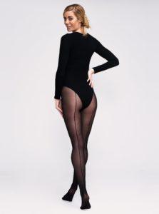Čierne pančuchové nohavice Andrea Bucci Backseam 30 DEN