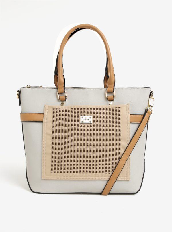 Béžovo-krémová kabelka Bessie London