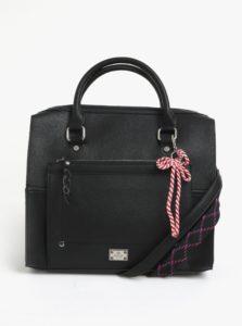 Čierna veľká kabelka so dvomi popruhmi Bessie London