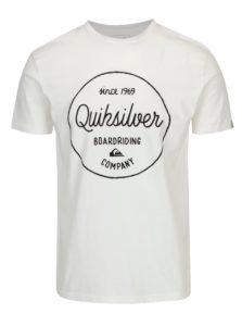 Biele pánske regular fit tričko s potlačou Quiksilver