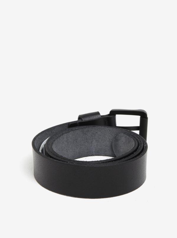 Čierny pánsky kožený opasok Quiksilver
