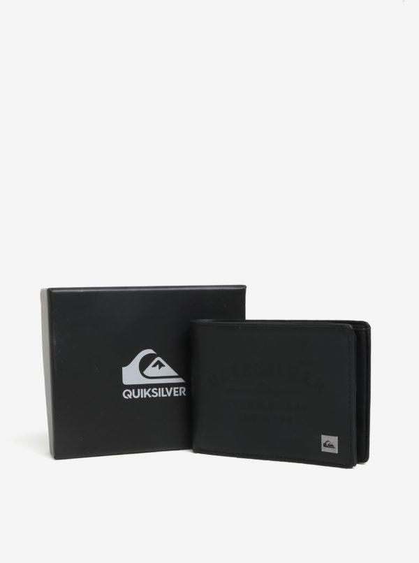 Čierna pánska kožená peňaženka Quiksilver