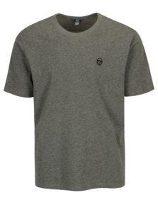 Sivé pánske tričko s výšivkou Sergio Tacchini Daiocco