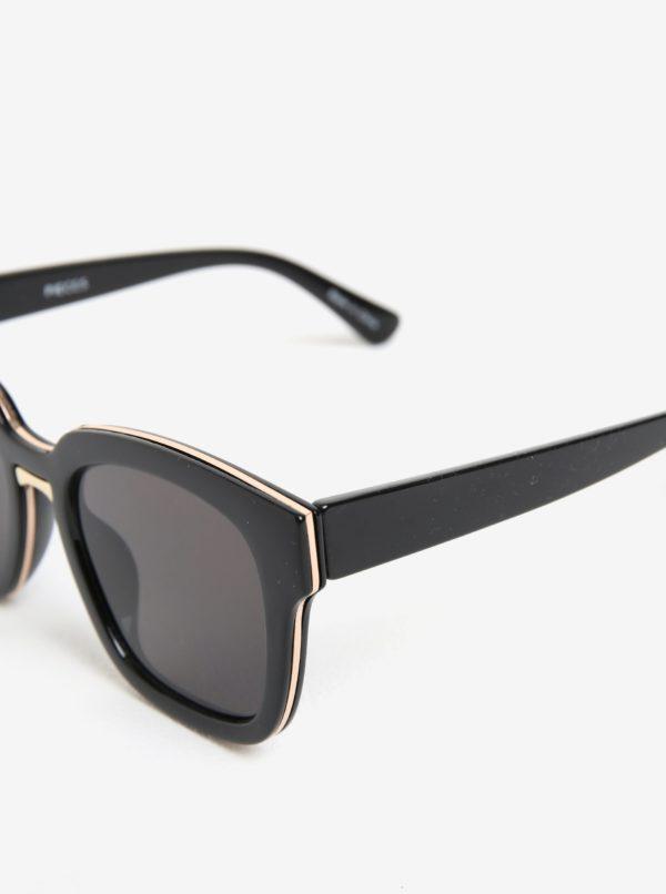 Čierne slnečné okuliare Pieces Marline