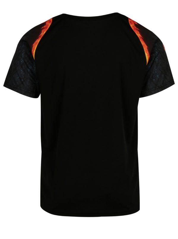 Čierne pánske športové tričko Sergio Tacchini Magma
