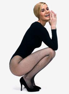 Čierne sieťované pančuchové nohavice Andrea Bucci Fishnet
