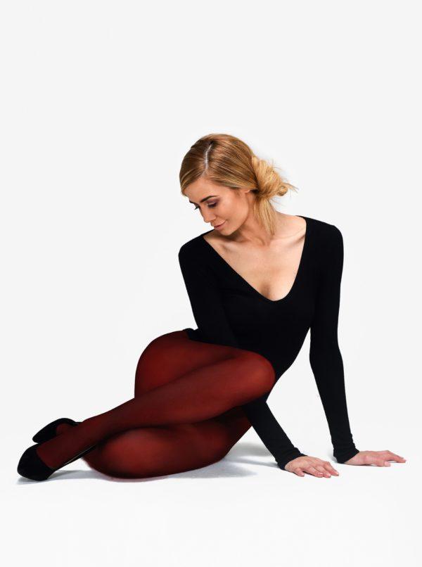 Vínové pančuchové nohavice Andrea Bucci 80 DEN