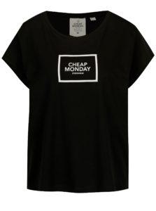 Čierne voľné tričko s potlačou Cheap Monday