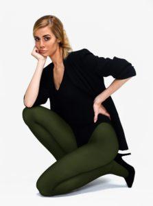 Tmavozelená pančuchové nohavice Andrea Bucci 80 DEN