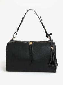 Čierna kabelka so strapcom Pieces Miri