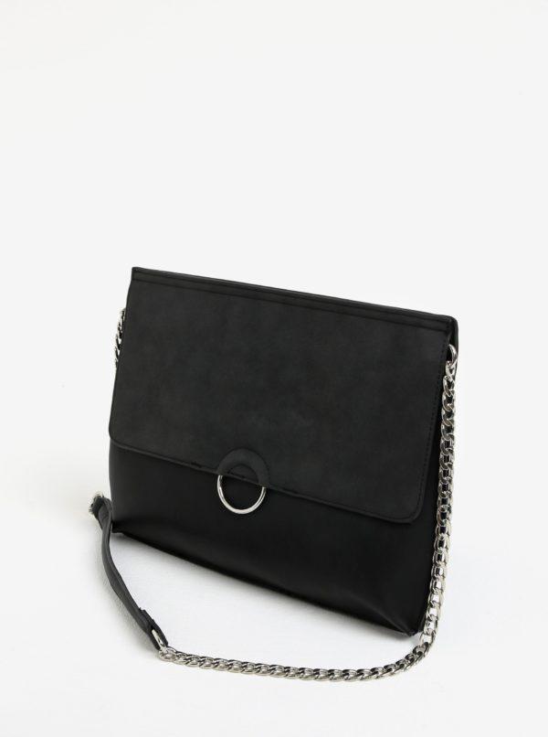 Čierna crossbody kabelka Pieces Maribel