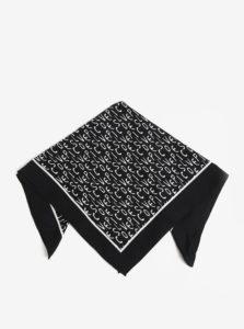 Čierna vzorovaná šatka Pieces Mia